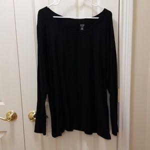 a.n.a. black shirt sz 2X